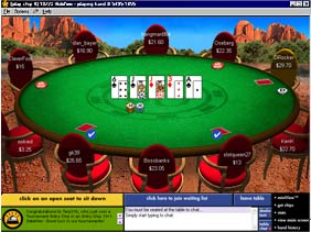 Ultimate Bet  Poker Screen Shot